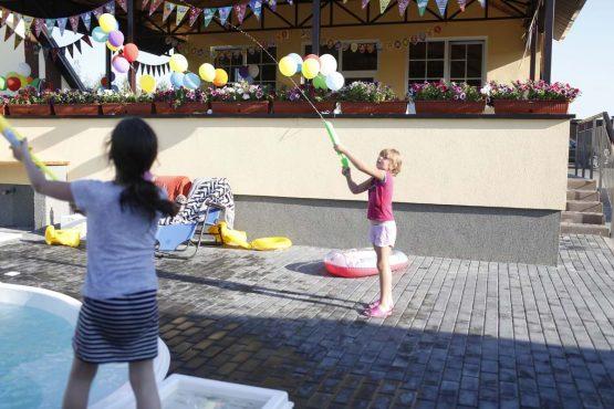детский праздник за городом